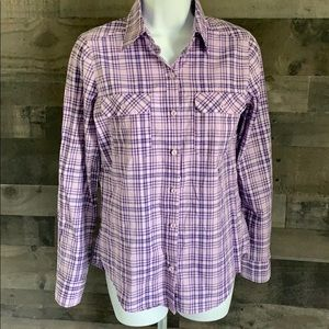 Purple Plaid Button Down Shirt